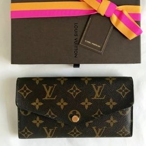 New Model LOUIS VUITTON Monogram Sarah Wallet Box